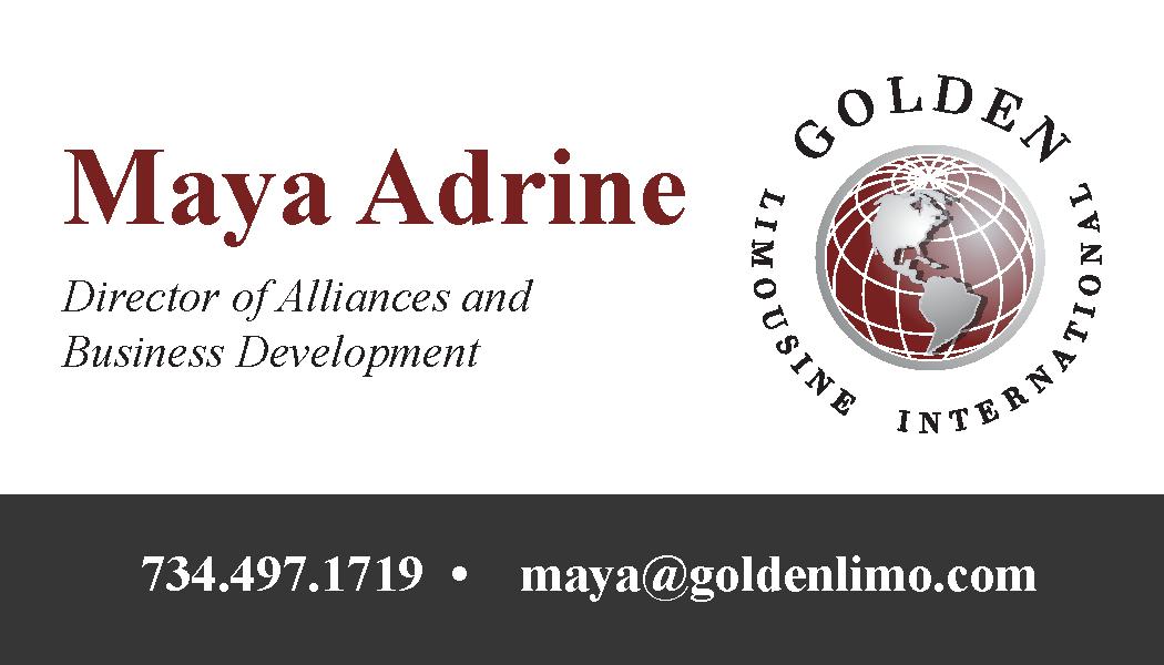 Golden Limousine Maya Adrine Front