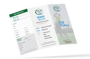Mockup for SWCRC Golf Outing Brochure