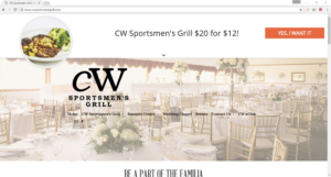 CW Sportsmen's Grill example of a Shopwindow offer