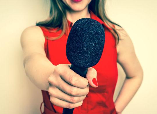 Female Reporter