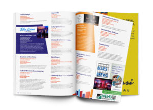 Arts + Creative Institutes inside page mockup