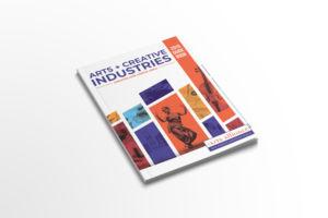 Arts Creative Industries magazine mockup home page