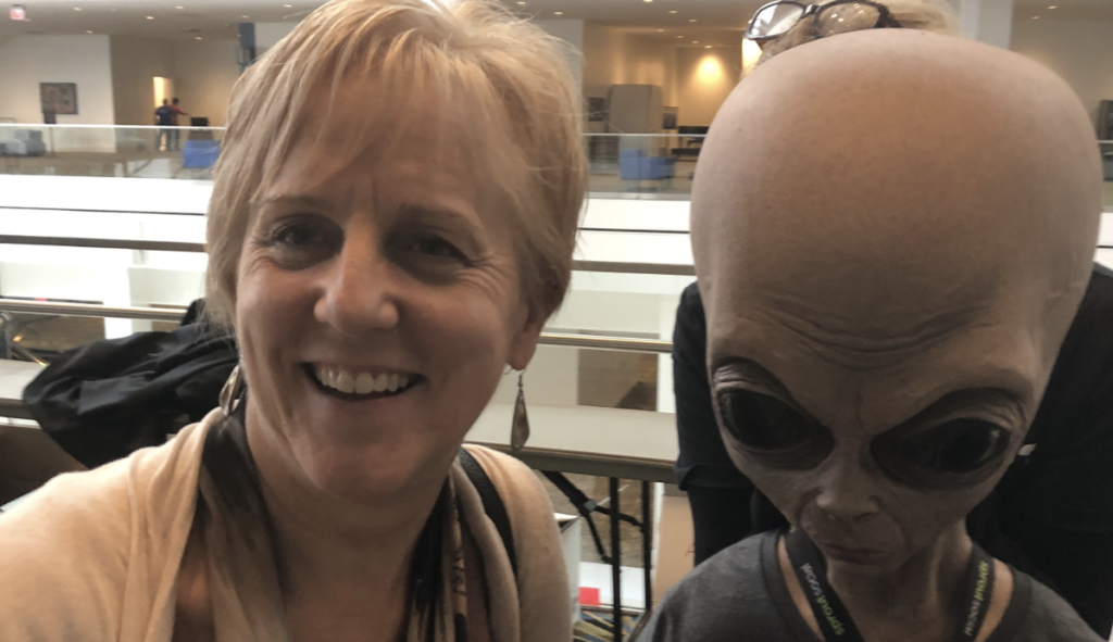 Tina with Alien Event