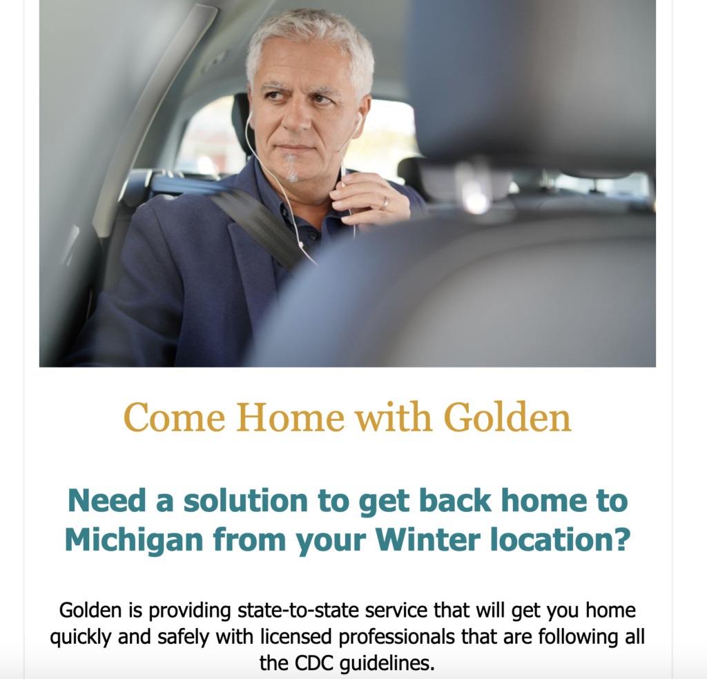 Golden Limousine eBlast
